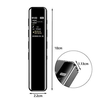Greatlizard 8gb/16gb portable digital voice recorder noise reduction clear audio sound recorder for lectures and meetings