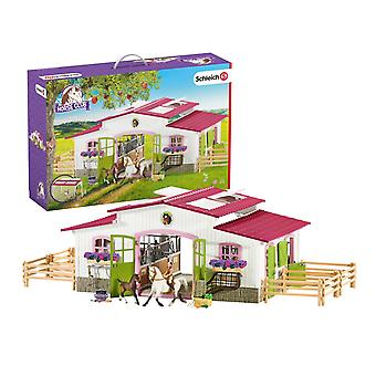 Schleich 42344 Riding Centre With Rider And Horses Horse Club Figure