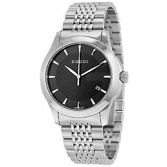 Gucci Ya126402 G Timeless Black Dial Stainless Steel Men's Watch
