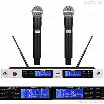 Metal profesional sm58 portátil uhf sistema de micrófono inalámbrico escenario rendimiento al aire libre karaoke mic microfone sets