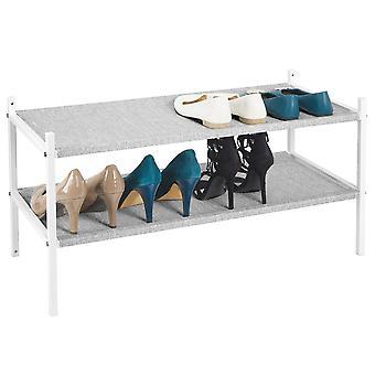 mDesign stof schoenrek houder opbergplank, metalen frame, 4 lagen