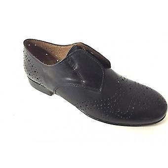 Shoes Woman Gas N. Bearded Scamiciata Derby Black Leather Leather Bottom Leather Ds15nb01