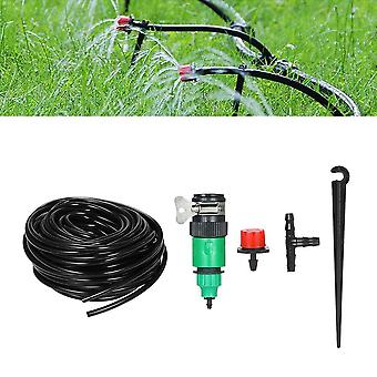 Plant watering irrigation drip kit accessories include atomizing nozzle mister dripper