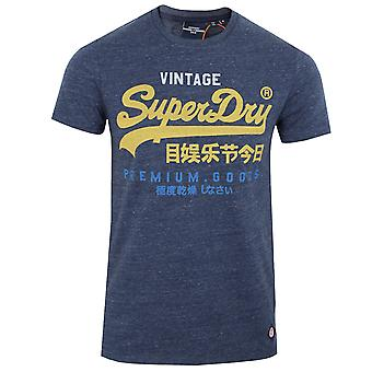 Superdry men's navy marl tri t-shirt