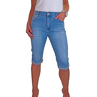 Women's High Waisted 3/4 Cropped Jeans