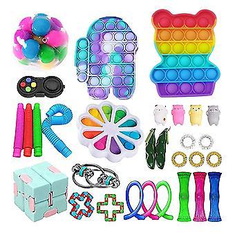 30pcs Pack Fidget Игрушки Сенсорная игрушка Установить Антистресс помощи Fidget игрушки
