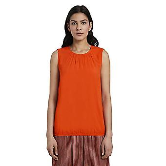 Tom Tailor Rundhals T-Shirt, 22370/Strong Flame Orange, 46 Dames
