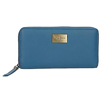 Pepe Jeans Lica Blue Wallet 19.5x10x2 cms Leather