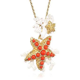 MISIS Women-Necklace Moorea Silver 925 Coral Paste Enamel 49.5 cm - CA07850RO