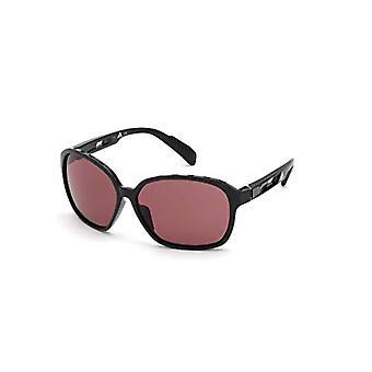 adidas SP0013 Brille, glänzend schwarz/violett, 62 Damen