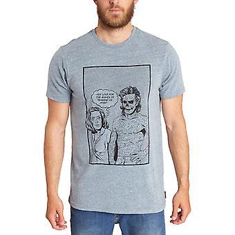 Billabong Oh Billy Tocayo camiseta de manga corta en azul pizarra