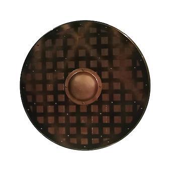 خشبية مصنوعة يدويا فايكنغ درع الشبكة المعدنية SWE40