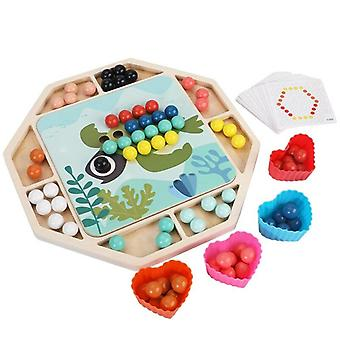 Kids Clip Bead Board Early Education Wooden Puzzle Toy Learning Sorting Stacking Preschool|Puzzles