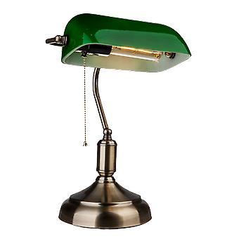 V-tac VT-7151 Banker lampe verre vert - Lampe notaire - E27