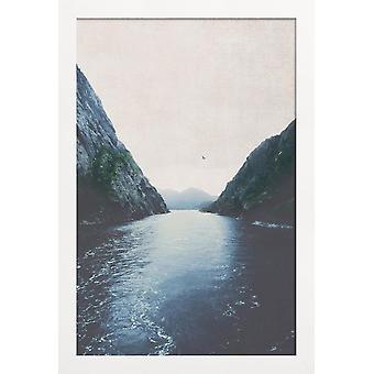 JUNIQE Print - Find Indre Fred - Oceaner, Have og Søer Plakat i Blå