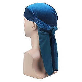 Unissex Breathable Bandana Hat Velvet, Long Tail Soft Velvet Cap