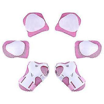 Rosa Kinder Schutzausrüstung Set Kniepolster für Kinder 3-14 Jahre Kleinkind Knie x4995