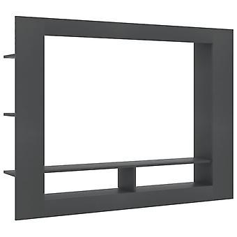vidaXL TV-kaappi Harmaa 152×22×113 cm Lastulevy