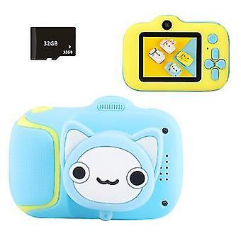Sininen mini lasten digitaalikamera 20 miljoonaa teräväpiirtopikseliä £¬ tukee mp3-musiikkinäytettä az22701