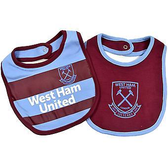 West Ham Dvojbalenie Bib Set Domov a preč jedna veľkosť