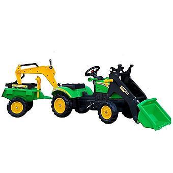 Εκσκαφέας go-kart με φτυάρι & ρυμουλκούμενο - πράσινο