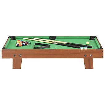 vidaXL 3-Fuß-Mini-Billardtisch 92×52×19 cm Braun und Grün