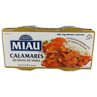 Blekksprut Miau kamskjell saus (2 uds)