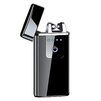חדש hb-021-קרח שחור אופנה כפולה קשת אלקטרונית מגע חכם קל USB אינדוקציה נטענת sm41904