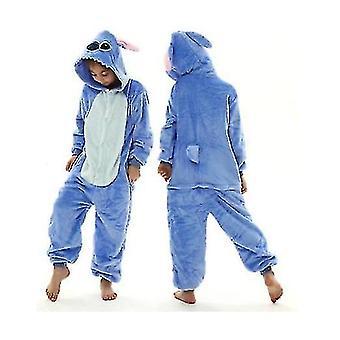 Unicorn Stitch Kigurumi Kids Children Pajamas Winter Flannel Warm Sleepwear(110cm)