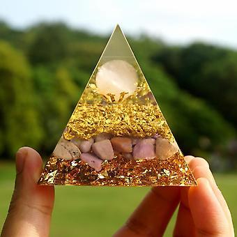 Lepidolite Kristalli Güçlü Orgonit Piramit Gül Kuvars Küre
