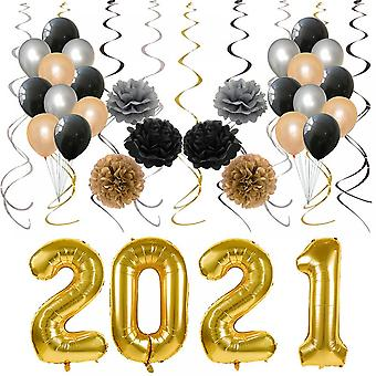 New Years Eve Party Supplies 2021 Decorations Kit,balloons Sets