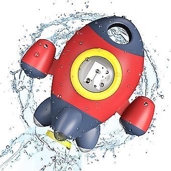 Brinquedos de banho, brinquedos de banho para foguete espacial infantil, brinquedo de banho de bebê girando água spray para bebê 3 anos