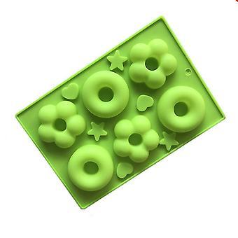 Høj kvalitet donuts skimmel store 6 hulrum hule runde kage skimmel lille husstand bagning skimmel køkkenudstyr #133