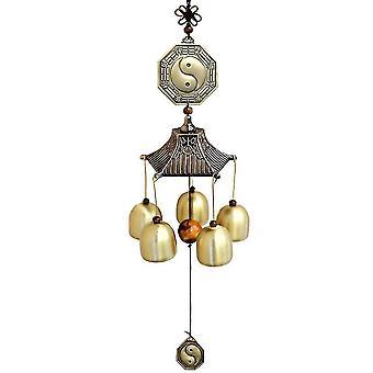 5 Bell Metal Wind Chimes Yard Antique Amazing Garden Bells Copper