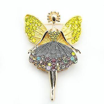 Elegantná brošňa pin angel corsage kamienková zliatina dámska brošňa