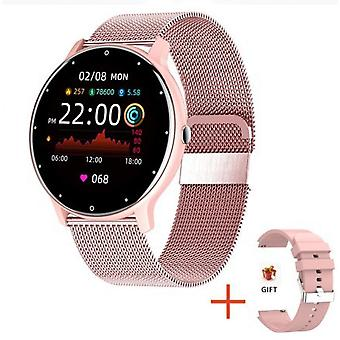 Smart Watch Heart Rate Fitness Waterproof Tracker pour Iphone Android Samsung Ios (rose)