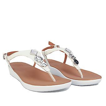 Women's Fit Flop Lainey Embellished Back Strap Sandals in Cream