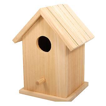 LAST FEW - Cabane à oiseaux en bois en 2 parties ou boîte à oiseaux pour l'artisanat - 17cm de haut