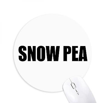 Snow Pea Vegetable Name Foods Round Non-slip Rubber Mousepad Game Office Mouse Pad