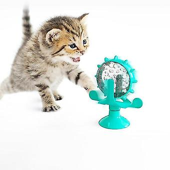 Cat toys cat interactive toy windmill cats food leaker products for pet play structure tower suction cup