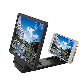 Wzmacniacz ekranu 3D i powiększalnik do telefonów komórkowych (czarny)