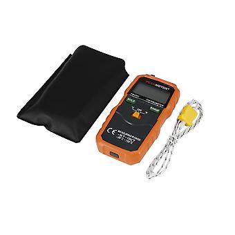 Écran LCD de type K Sonde de température du thermomètre numérique + sac de rangement en cuir Pu