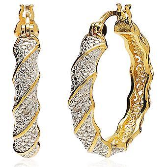 Dvoubarevné diamantové twisted obruče náušnice dámské šperky dárky