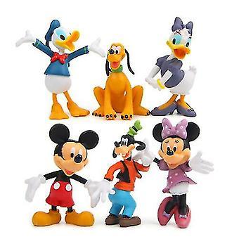 6pcs Disney Mikke Mus Figur Sett Leketøy Kid Gave