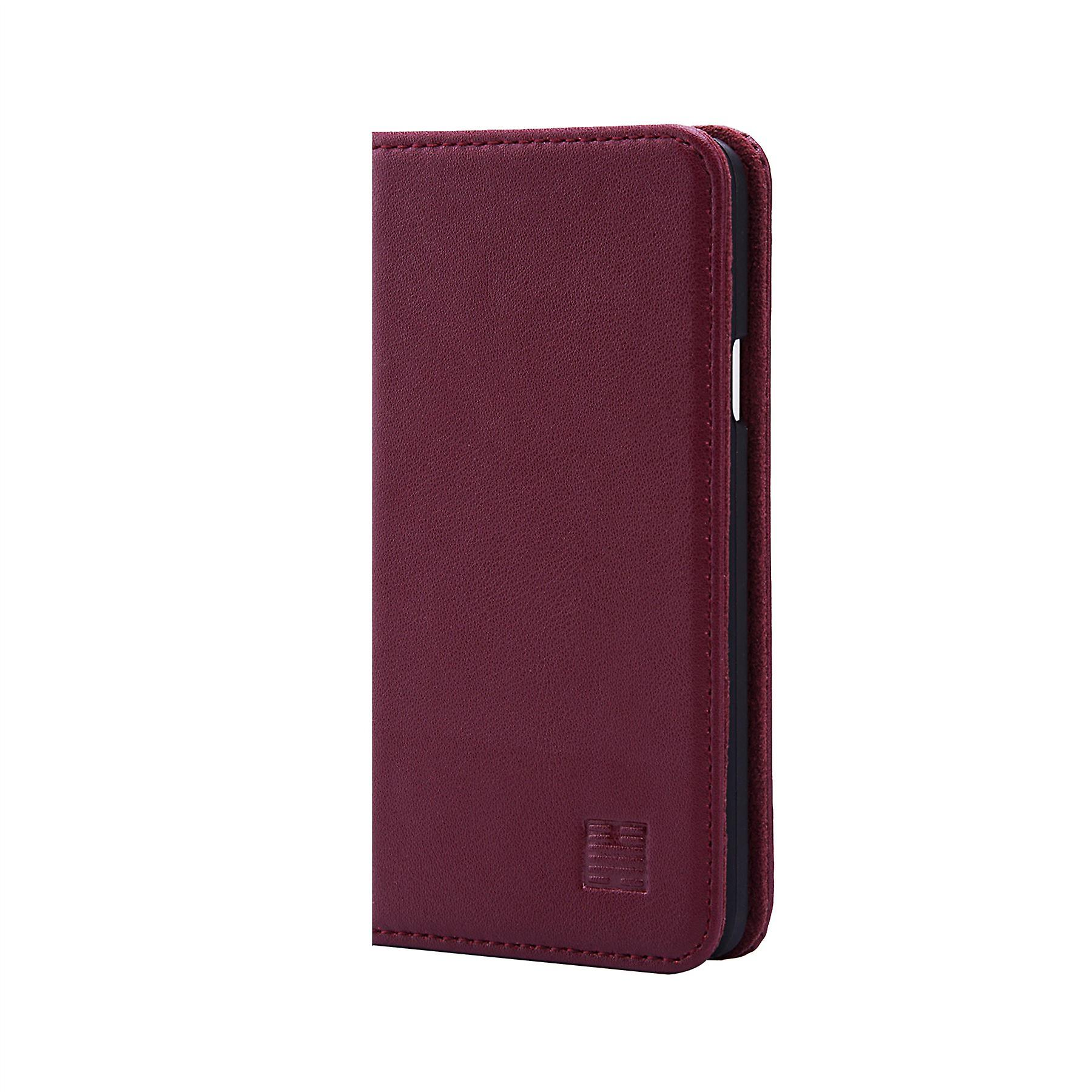 32nd Classic Real Leather Wallet for Samsung Galaxy A5 (2017) - Burgundy