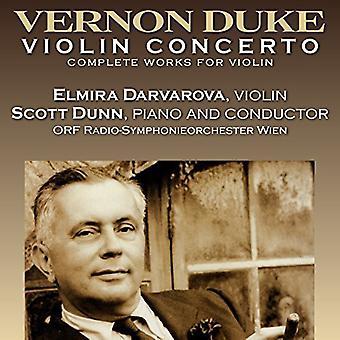 Elmira Darvarova (Violin) Scott Dunn (P - Duke: Violin Concerto [CD] USA import