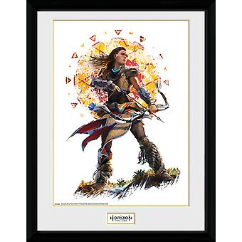 Horizon nul Dawn Aloy Stand indrammet Collector Print