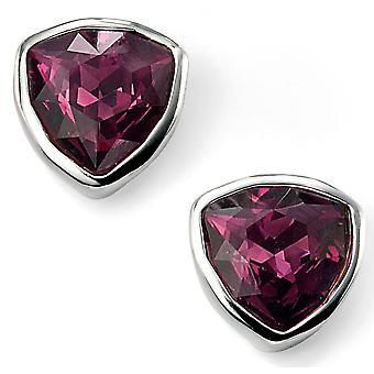 925 sølv Swarovski krystall trekant ørering