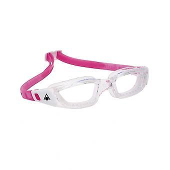 أكوا اسفير كامليون جونيور -6-14 سنة- السباحة Goggle-Clear عدسة واضحة-واضح/أبيض/وردي