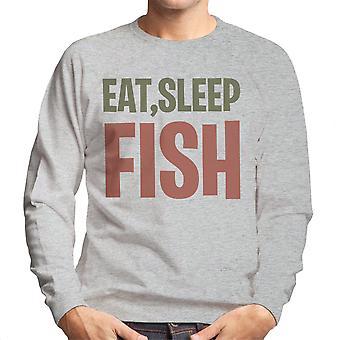 Comer sudadera dormir peces hombres